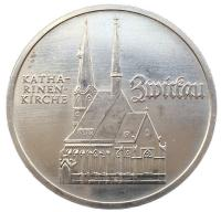 5 марок 1989 года Церковь Св. Марии в Мюльхаузен