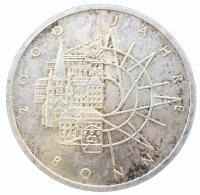 10 марок 1989 года 2000 лет городу Бонн