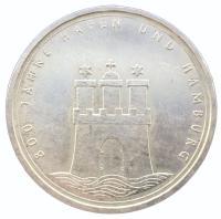 10 марок 1989 года Гамбургский Порт