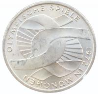 10 марок 1972 года Олимпиада в Мюнхене