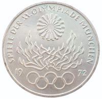 10 марок 1972 года Олимпиада в Мюнхене - Олимпийский Огонь
