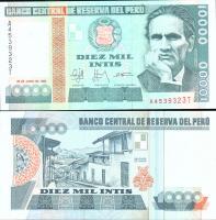 Перу 10000 интис 1988 года