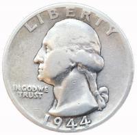 США 25 центов (квотер) 1944 года