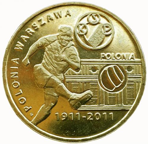 Польша 2 злотых 2011 Полония Варшава