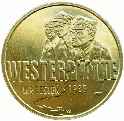 Польша 2 злотых 2009 Вестерплатте