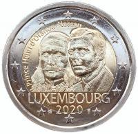 Люксембург 2 евро 2020 года