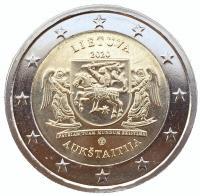 Литва 2 евро 2020 Аукштайтия