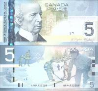 Канада 5 долларов 2010 года Хоккей