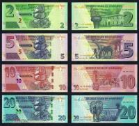 Зимбабве Набор Банкнот 2019 года