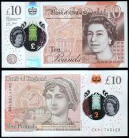 Англия 10 фунтов 2016 года Полимер