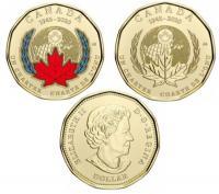 Канада 1 доллар 2020 75 лет ООН