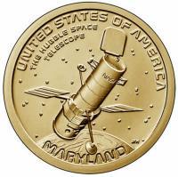 США 1 Доллар 2020 Комический Телескоп Хаббл