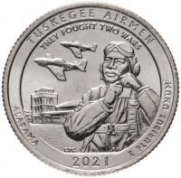 25 центов 2021 Пилоты Таскиги