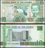 Гамбия 10 даласи 2013 года