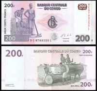 Конго 200 франков 2013 года