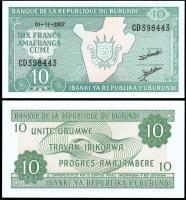 Бурунди 10 франков