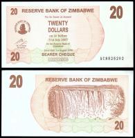 Зимбабве 20 долларов 2006 года