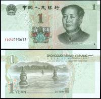 Китай 1 юань 2019 года