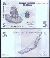 Конго 5 сантимов 1997 года