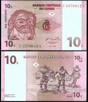 Конго 10 сантимов 1997 года