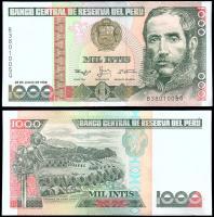 Перу 1000 инти 1988 года