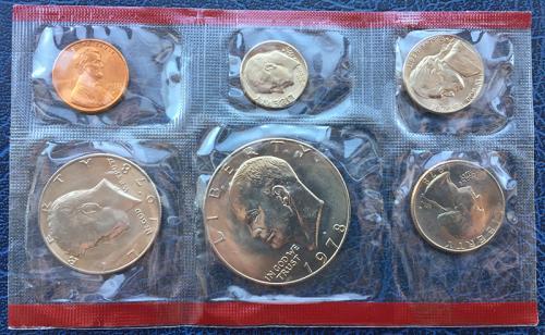 США Годовой Набор Монет 1978 года D