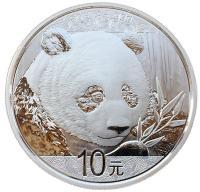 монета панда китай
