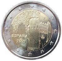 2 евро 2021 город Толедо