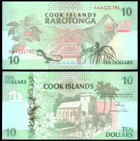 Острова Кука 10 долларов 1992 года