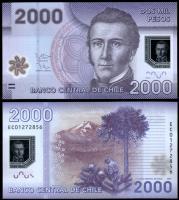 Чили 2000 песо 2013 года