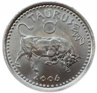 Монета Сомали 10 шиллингов 2006 Телец