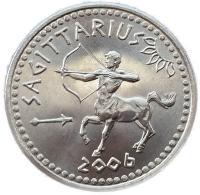 Монета Сомали 10 шиллингов 2006 Стрелец