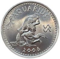 Монета Сомали 10 шиллингов 2006 Водолей