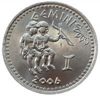 Монета Сомали 10 шиллингов 2006 Близнецы