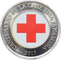 Монета Панамы 1 бальбоа 2017 Красный Крест