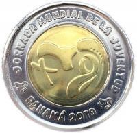Монета Панамы 1 бальбоа 2019 Всемирный День Молодежи
