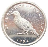 Монета Сомалиленд 1 шиллинг 1994 Птица