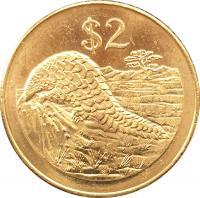 Монета Зимбабве 2 доллар 2001 года