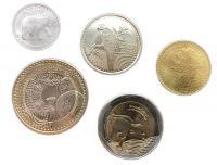 Колумбия Набор Монет 2017-2018 года 5 штук
