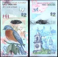 Банкнота Бермудские Острова 2 доллара 2009 года