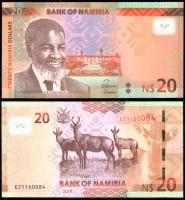 Банкнота Намибия 20 долларов 2018 года
