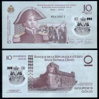 Банкнота Гаити 10 гурдов 2017 года Полимер