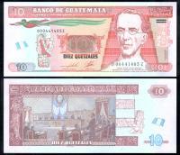 Банкнота Гватемалы 10 кетцалей 2016 года