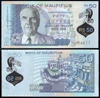 Банкнота Маврикия 50 рупий 2013 года Полимер