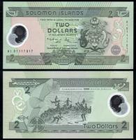 Соломоновы Острова 2 доллара 2001 года