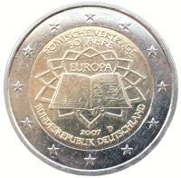 Германия 2 Евро 2007 Римский Договор