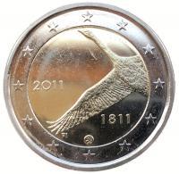 Финляндия 2 Евро 2011 200 лет Банку Финляндии