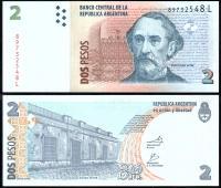 Банкнота Аргентины 2 песо 2010 года