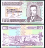 Банкнота Бурунди 100 франков 2011 года