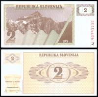 Банкнота Словении 2 толара 1990 года
